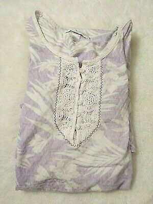 Hochman Women's Tropical Floral Sleepwear Night Gown Lounge Purple/White Size 2X