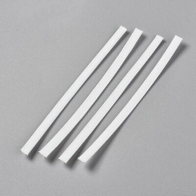 100pcs Flexible PE Plastic Wires Bendable Twist Ties Double Core White 100x5mm