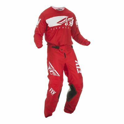Fly Racing Youth MX Motocross Kit Combo (Kinetic Red/White) Size 28s/Youth XL