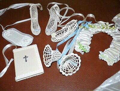 Vintage Crochet Wedding Bridal Keepsakes