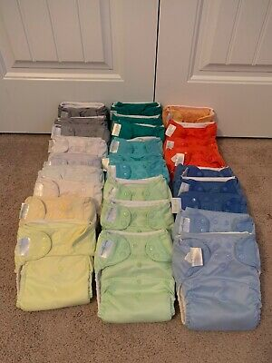 RAINBOW Lot of 27 Bumgenius Pocket Cloth Diapers w/inserts 4.0 5.0