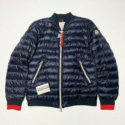 Moncler Daneb Mens Down Puffer Jacket Quilted Navy Blue Size 1 2 S Small Medium