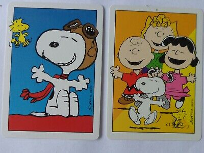 2 X  Vintage Snoopy And Friends  ,  Swap Playing  Cards,