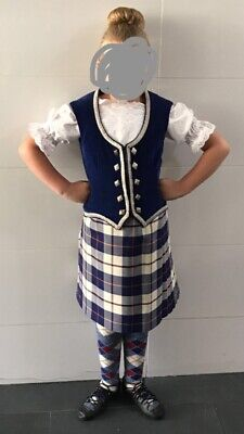 Girls Blue Highland Dancing Outfit