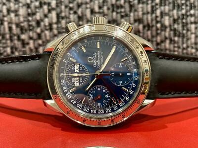 Omega Speedmaster Automatic Chronograph Triple Day-Date Blue Watch - 3523.80.00