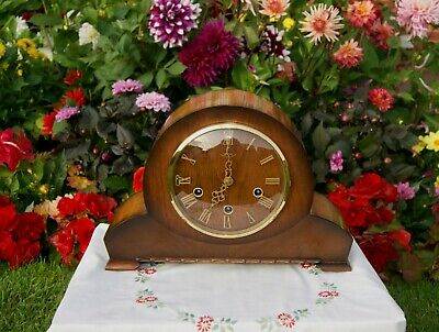 Smiths Antique Art Deco Westminster Chime Mantel Clock. 1957.