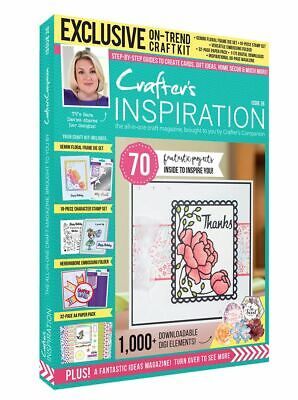 Crafter's Companion CRAFTERS INSPIRATION ISSUE 26 - 68 Page Magazine & Craft Kit