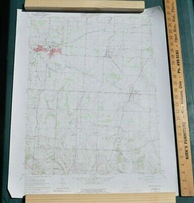 USGS Topography Map; Vintage Map; Baltimore, OH; Fairfield County; ~27 x 22in