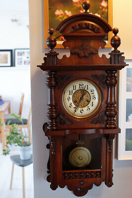 GUSTAV BECKER Antique Wall Clock Regulator Clock