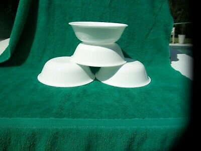 Corelle Winter Frost White Glass Cereal Soup Bowls Set Of 4