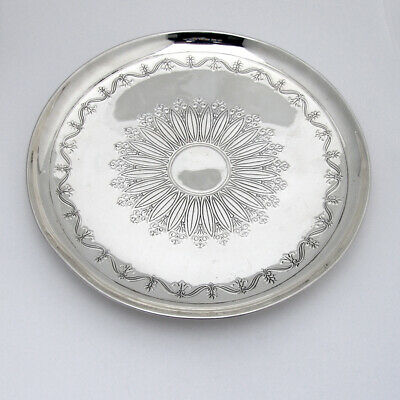 Tiffany Footed Cake Plate Acid Etched Design Sterling Silver