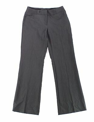 Alfani Womens Dress Pants Charcoal Gray Size 2 Curvy Fit Tab-Front $39 273
