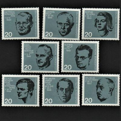 OLD STAMPS GERMANY X 8 - 1964 cv£8.80 ANTI-HITLERITE MARTYRS MNH MINT FULL GUM