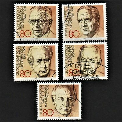 OLD STAMPS GERMANY 1982 cv£8.00 FULL SET PRESIDENTS USED NEVER HINGED