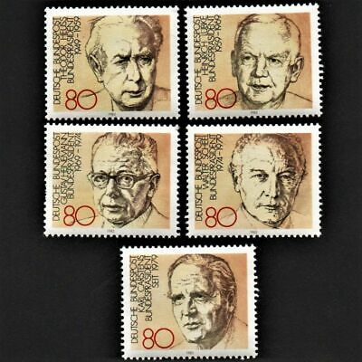 OLD STAMPS GERMANY 1982 cv£8.50 FULL SET PRESIDENTS MINT NEVER HINGED