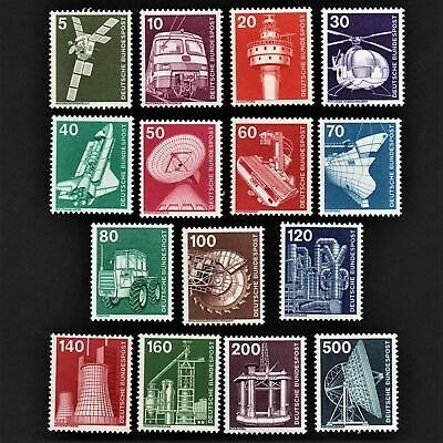 OLD STAMPS GERMANY X 15 - 1975 cv£23.30 INDUSTRY & TECHNOLOGY MNH MINT FULL GUM