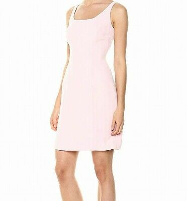 Tahari By ASL Womens Dress Pink Size 8 Sheath Crepe Solid Seamed $70- 886