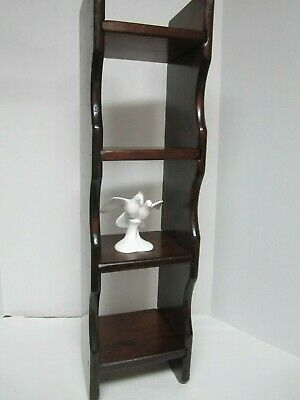Antique Hand Carved Wooden Folk Art Farmhouse Hanging Or Standing Wall Shelf