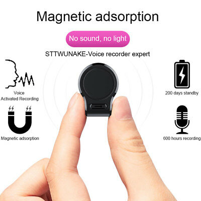 ❤️❤️ Digital Voice Recorder 8/16GB Hidden Auto Voice Activated Magnet Spy Device