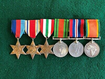 South Africa Medal Group For North Africa And Italy