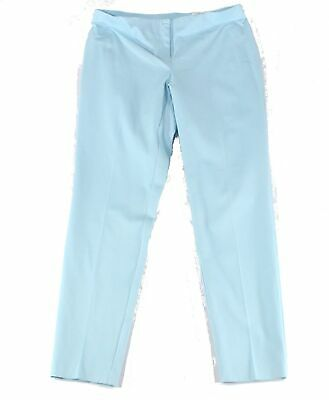 Alfani Womens Pants Blue Size 8 Dress Skinny Leg Comfort-Waist Stretch $59 619