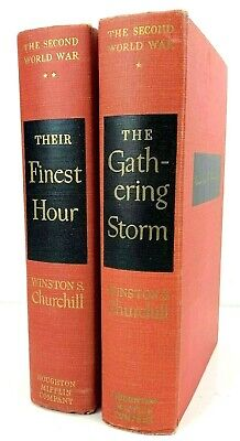 1948-1949 Book Lot Winston Churchill The Finest Hour and The Gathering Storm HC