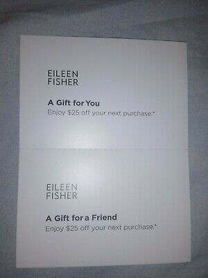 Two Eileen Fisher $25 Off Your Next Purchase Coupon - Instore / Online - 6/30/20