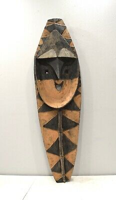 Papua New Guinea Statue Yam Wood Carving Yena Figure Statue