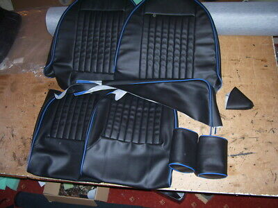 triumph spitfire 1500 SEAT covers.traditionally british made.black & BLUE piping