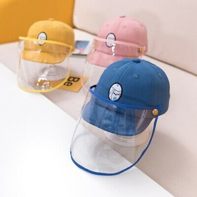US Baby Kid Anti Dust Droplet Hat Baseball Cap +Protective Isolation Face Shield