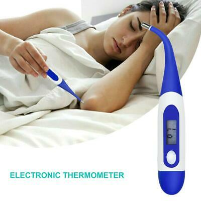 LCD Digital Medical Body Thermometer Adult Child Baby Flexible Tip Temperature