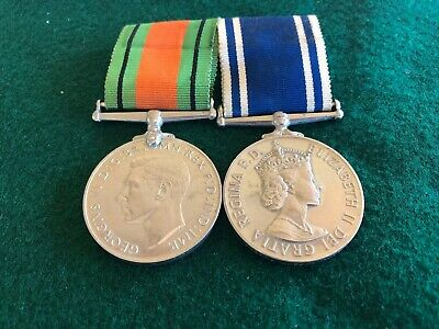 Long Service Medal Pair To Police Inspector
