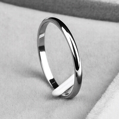 Stainless Steel Plain Band for 2mm Thin Stackable Ring   Women Girl Size 6