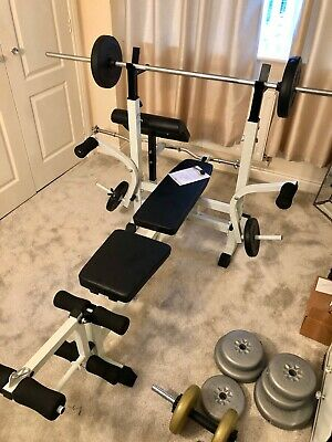 Steel Weight Lifting Multifuction Gym Bench Fully Adjustable With Weights