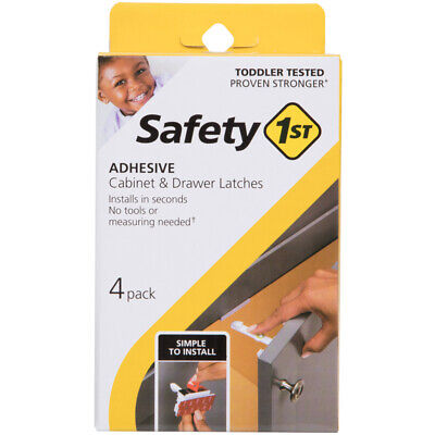 Safety 1st White Plastic Cabinet Catches 4 pk