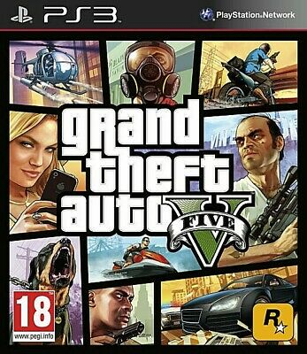 Grand Theft Auto V GTA 5 Five Online Sony PlayStation 3 PS3 2013 Good Condition