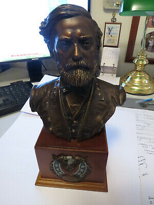 Civil War Robert E Lee Bronze Bust