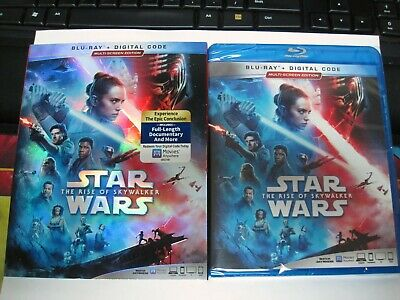 Star Wars The Rise of Skywalker Blu-ray, +Slipcover, Digital New Sealed FreeShip