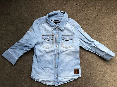 Beau Hudson Boys Chambray Cotton Shirt Size 1