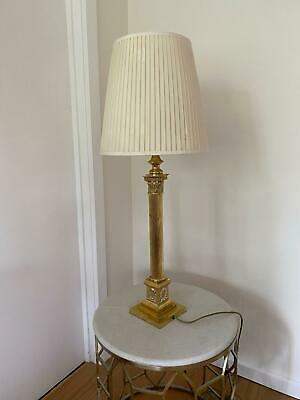2 x Golden table lamps, beautiful design, victorian style brass