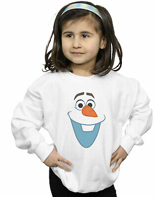 Disney Girls Frozen Olaf Face Sweatshirt