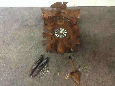 Vintage Black Forest German Cuckoo Wall Clock fully working