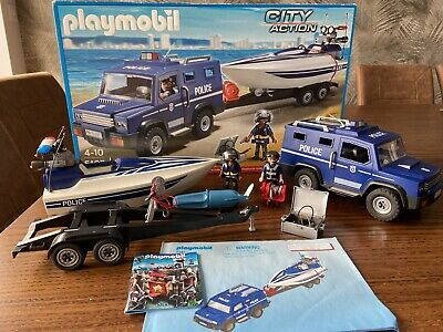 Playmobil 5187 City Police Truck With Speedboat New /& Sealed