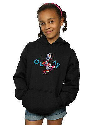 Disney Girls Frozen 2 Olaf Leaf Jump Hoodie
