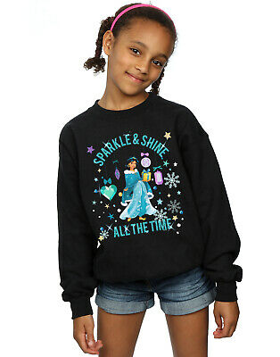 Disney Girls Princess Jasmine Sparkle And Shine Sweatshirt