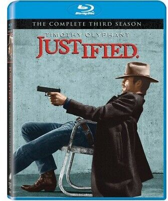 Justified The Complete Third Season Blu-ray W/ OOP SLIPCOVER FX 2012 Western TV
