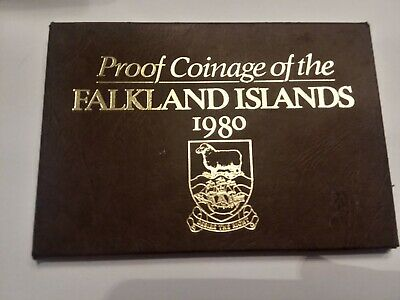 Royal Mint 1980 Decimal Coinage Falkland Islands 6 Coin Proof Set Cased