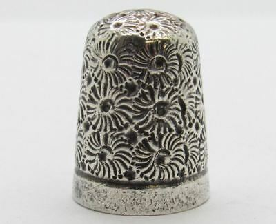 Antique London Sterling Silver Daisy Flower Thimble