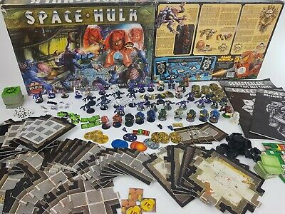 SPACE HULK 1st edition Board Game - + GENESTEALER expansion [ENG,1989] + EXTRAS