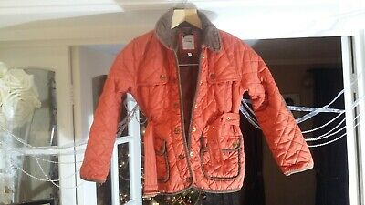 !! J Jeans Debenhams Girl's Red Quilted Jacket Age 7-8